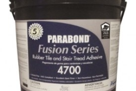 Parabond's Fusion Series 4700 adhesive for rubber tiles, stair treads