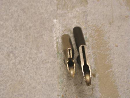 Improper weld tip