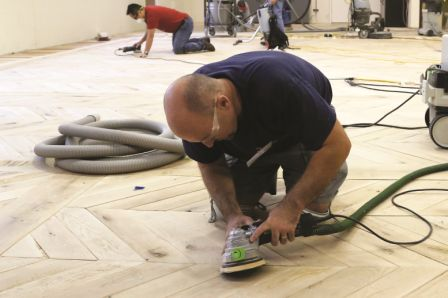 Once you determine the floor can be sanded, you need to select your sanding sequence.