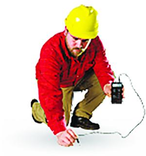Measuring moisture in concrete
