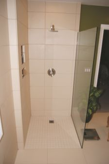 Completed Barrier Free Shower Installation. Image Courtesy Of Fin Pan.