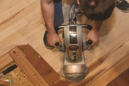 Over time, it will be necessary to have a wood floor professionally finished.