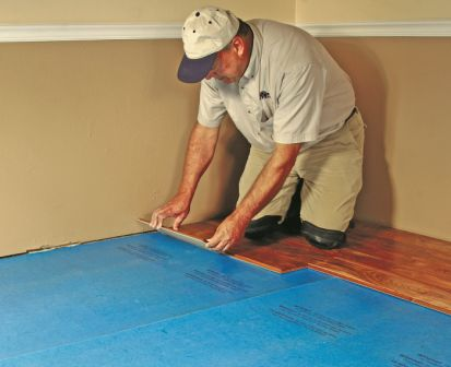 Once A Substrate Concrete Or Wood Is Covered With An Underlay The