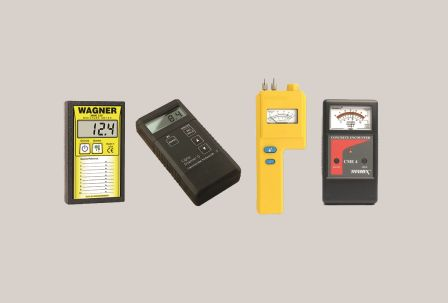 Some of the moisture-testing meters available on the market