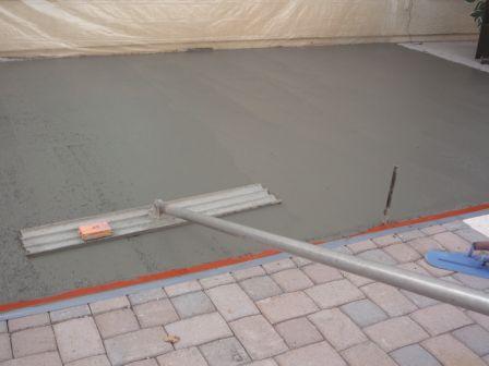 # 3: Proper pour of concrete