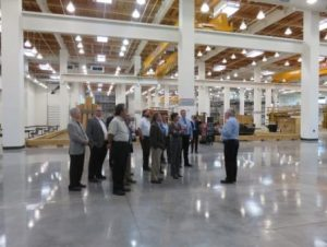 Tarkett National Sales Leadership Team tours the Carpenters International Training Center (ITC)