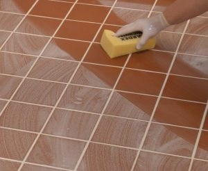It is important to follow the manufacturer recommendations for mixing, spreading and cleaning the grout.