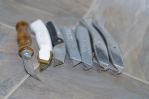 Photo #2: The selection of knives you can use.