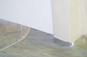 Photo #8: Relief cutting the doorjamb.