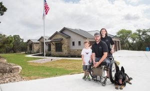 US Army Staff Sergeant Lucas Cifka (Ret.) surrounded by his family