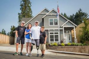 The home dedication for US Army Sergeant First Class Wade Mitcheltree took place on August 11, in Tigard, OR.  Flooring for the project was donated by NWFA member Mullican Flooring.