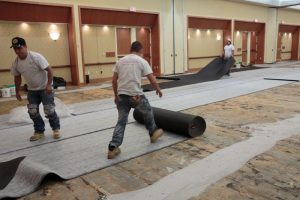 Installing Tufted, Woven Wool Carpet