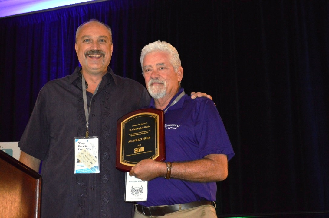 Armstrong Installation Expert Rick Herr Honored With Cfi Award