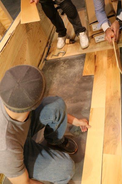 floating wood floor installation