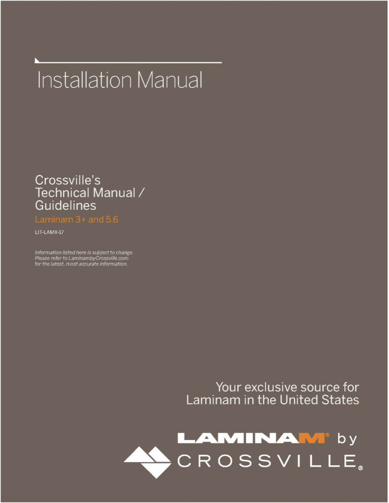 Crossville Announces Update to Tile Panel Installation Manual