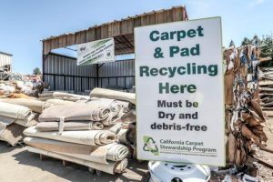 Carpet and pad recycling station
