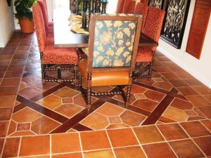 Low sheen topical sealer on terracotta tile