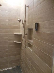 Shower niche and shelves