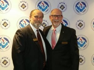 Christopher Walker, NTCA's Tile Person of the Year with Martin Howard, NTCA's President