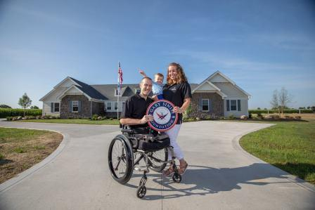 US Army Cpt. Nick Vogt, his wife Lauren, and their son Nathan.