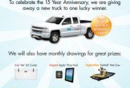 Laticrete announces 6 month prize promotion!
