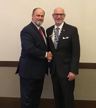 Pictured (left to right) is newly elected NTCA president Christopher Walker, and NTCA chairman Martin Howard.