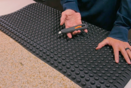 How to Cut Rubber Matting Safely