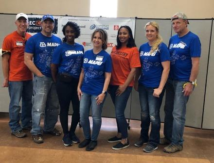 AEC Cares volunteers join Team MAPEI for the ProjectVegas Blitz Build.